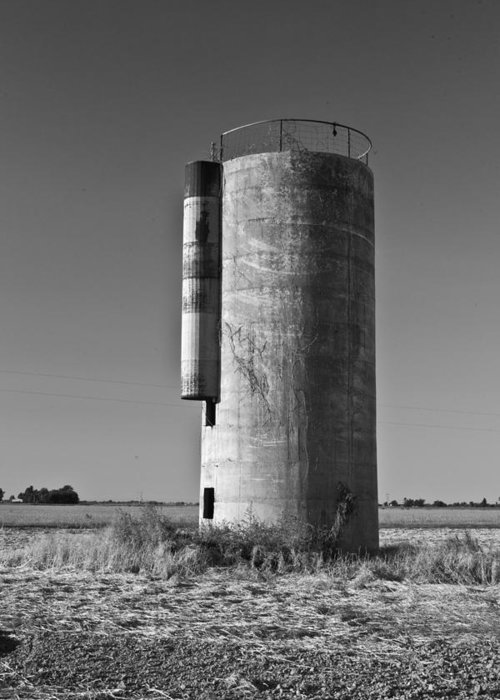Silo Greeting Card featuring the photograph Lonely Silo 6 by Douglas Barnett