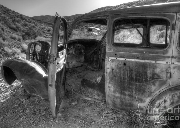 Old Cars Greeting Card featuring the photograph Long Forgotten by Bob Christopher