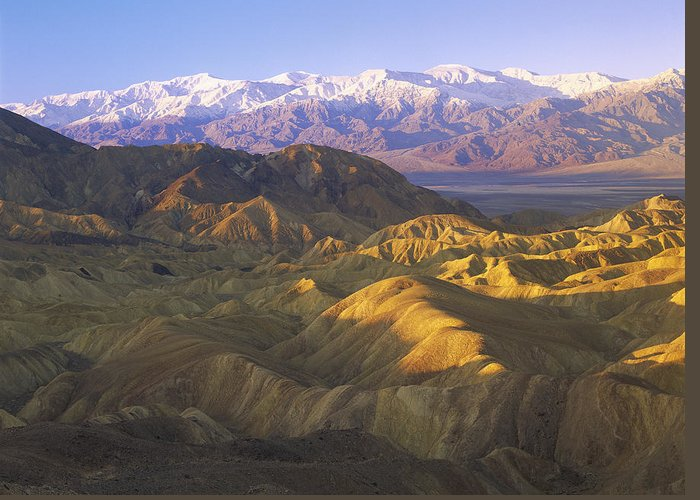 00173871 Greeting Card featuring the photograph Looking At Panamint Range by Tim Fitzharris