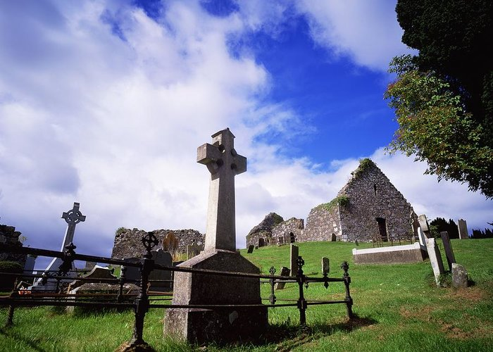 Architectural Exteriors Greeting Card featuring the photograph Loughinisland, Co. Down, Ireland by The Irish Image Collection
