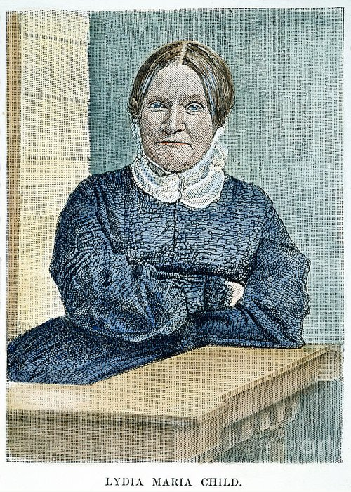 19th Century Greeting Card featuring the photograph Lydia Maria Child (1802-1880) by Granger