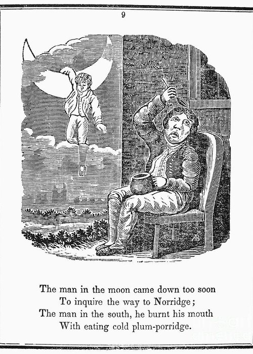 1833 Greeting Card featuring the photograph Man In The Moon, 1833 by Granger