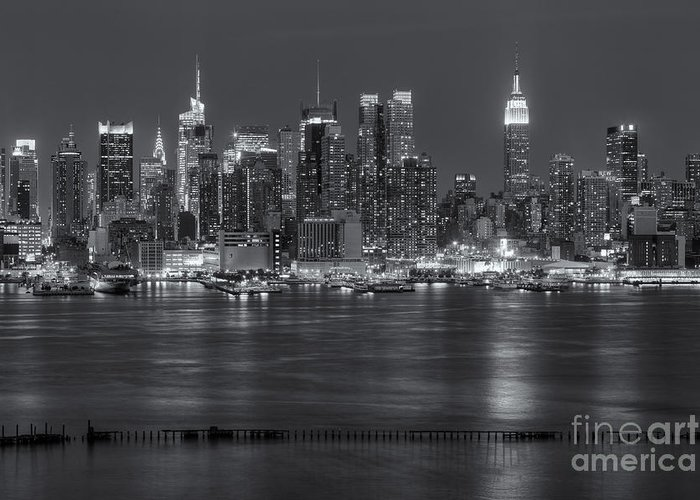 Clarence Holmes Greeting Card featuring the photograph Manhattan Twilight Vii by Clarence Holmes