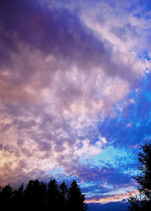 Sunset Greeting Card featuring the photograph Marble Sky 2 by Kevin Bone