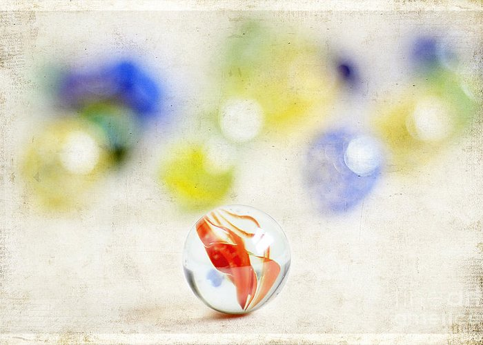 Abstract Greeting Card featuring the photograph Marbles by Darren Fisher