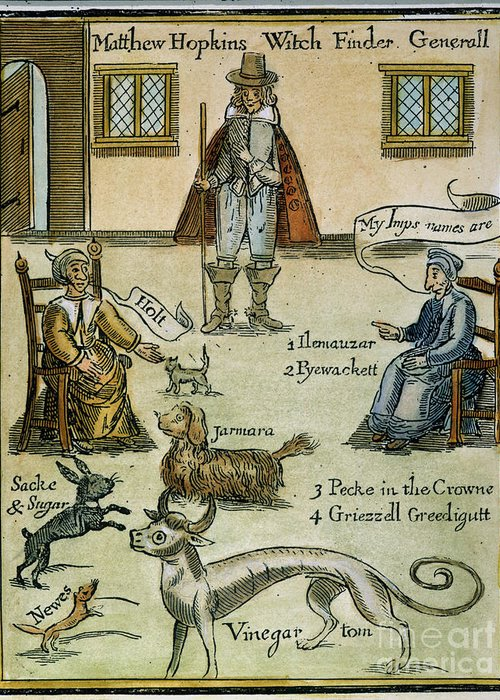 Capture Greeting Card featuring the photograph Matthew Hopkins (d. 1647) by Granger
