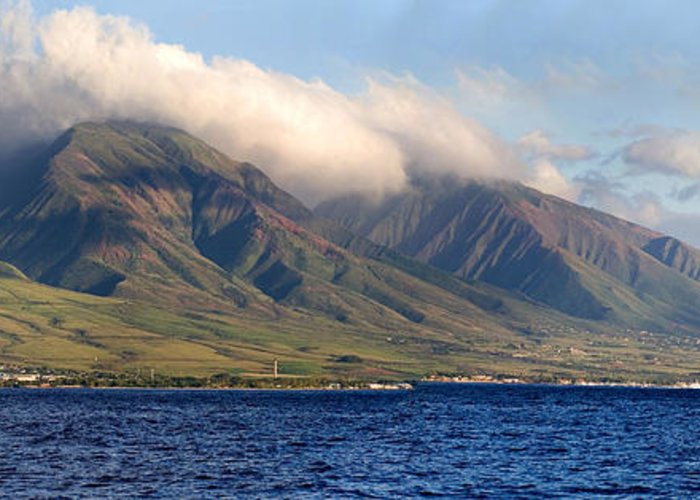 Landscape Greeting Card featuring the photograph Maui Pano by Scott Pellegrin