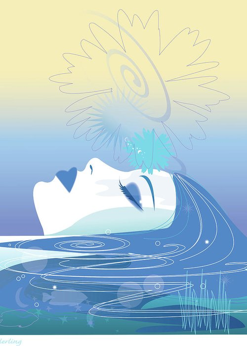 Relax Greeting Card featuring the digital art Meditation by Lisa Henderling