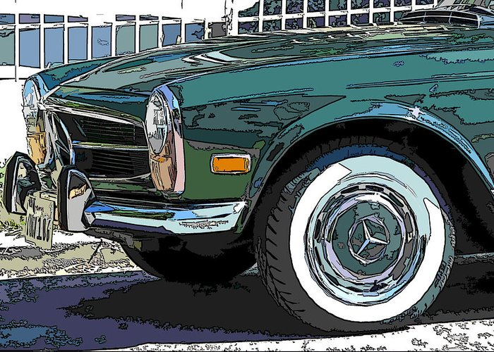 Mercedes Benz Greeting Card featuring the photograph Mercedes Benz 280sl Roadster 2 by Samuel Sheats
