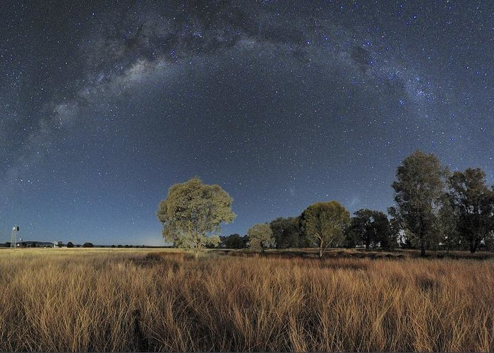 Milky Way Greeting Card featuring the photograph Milky Way Over Parkes Observatory by Alex Cherney, Terrastro.com