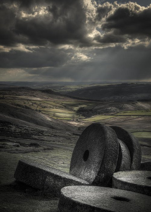 Peak District Landscape Greeting Card featuring the photograph Millstones by Andy Astbury