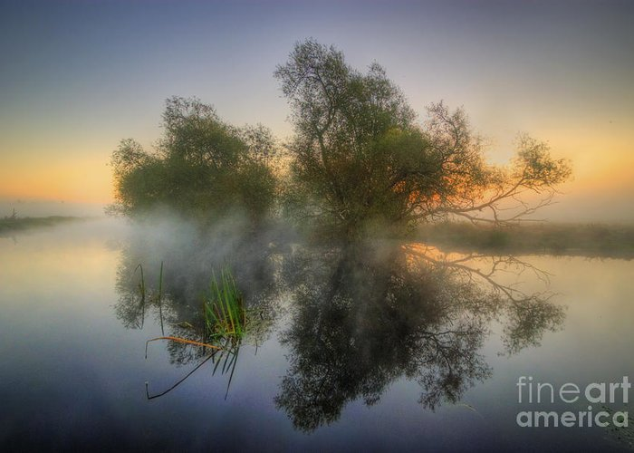 Hdr Greeting Card featuring the photograph Misty Dawn 2.0 by Yhun Suarez