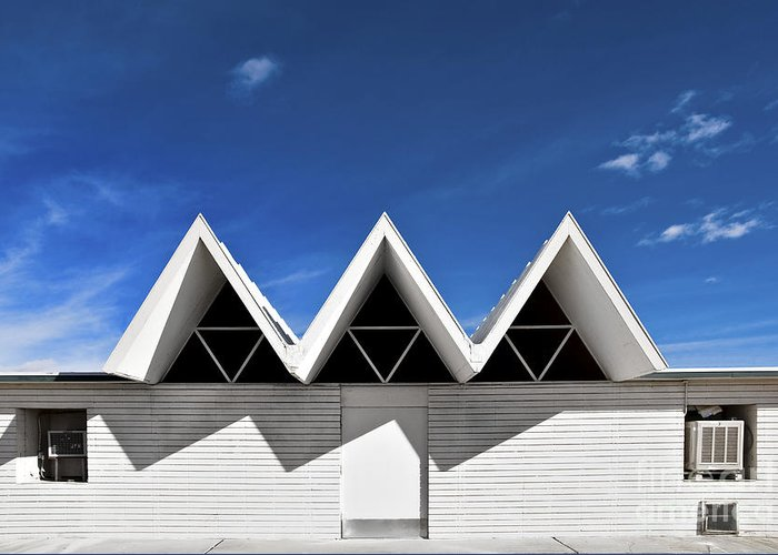 Angles Greeting Card featuring the photograph Modern Building Roofing by Eddy Joaquim