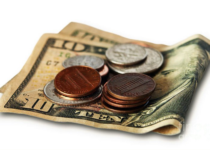 Accounting Greeting Card featuring the photograph Money by Blink Images
