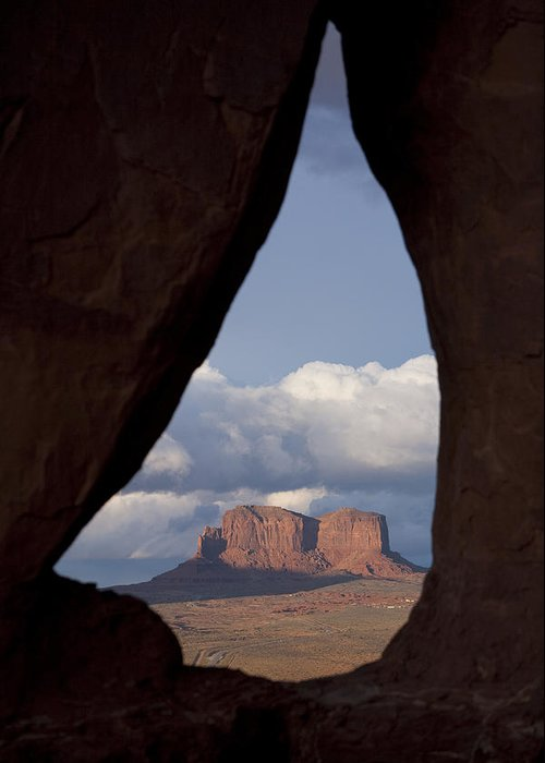 No People Greeting Card featuring the photograph Monument Valley, Usa by John Burcham