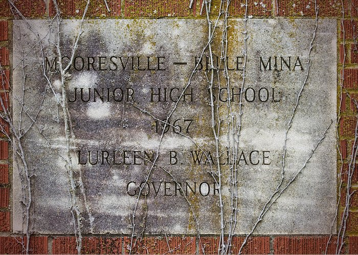 Mooresville Greeting Card featuring the photograph Mooresville - Belle Mina Junior High School 1967 by Kathy Clark