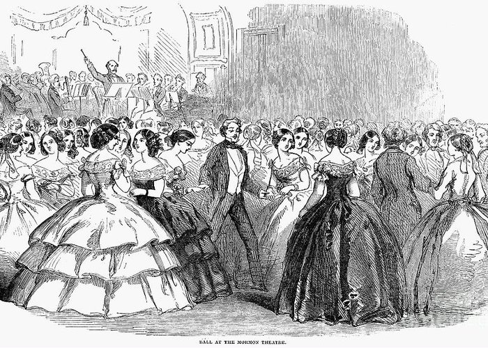 1857 Greeting Card featuring the photograph Mormon Ball, 1857 by Granger