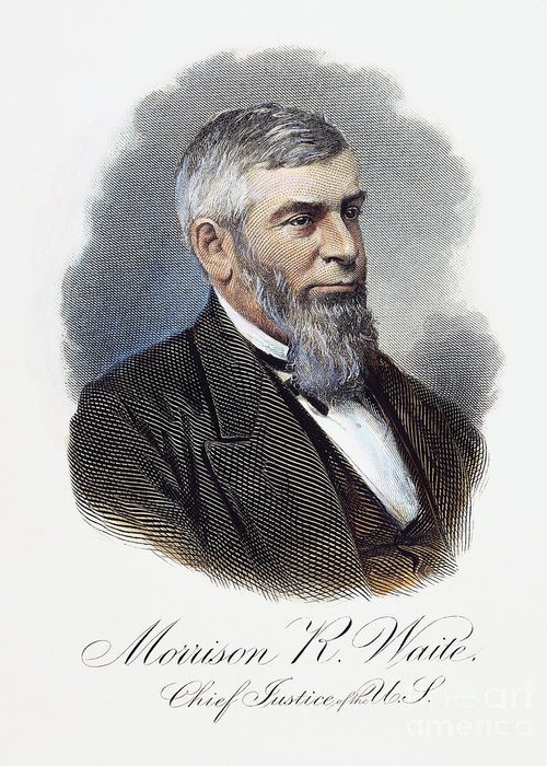 19th Century Greeting Card featuring the photograph Morrison Remick Waite by Granger