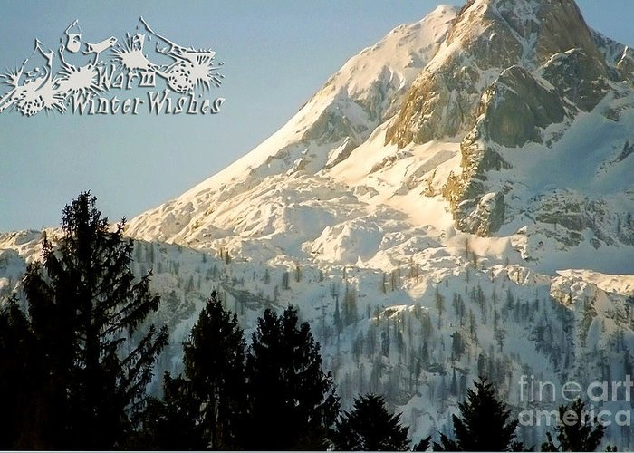 Winter Greeting Card featuring the photograph Mountain Christmas 2 Austria Europe by Sabine Jacobs