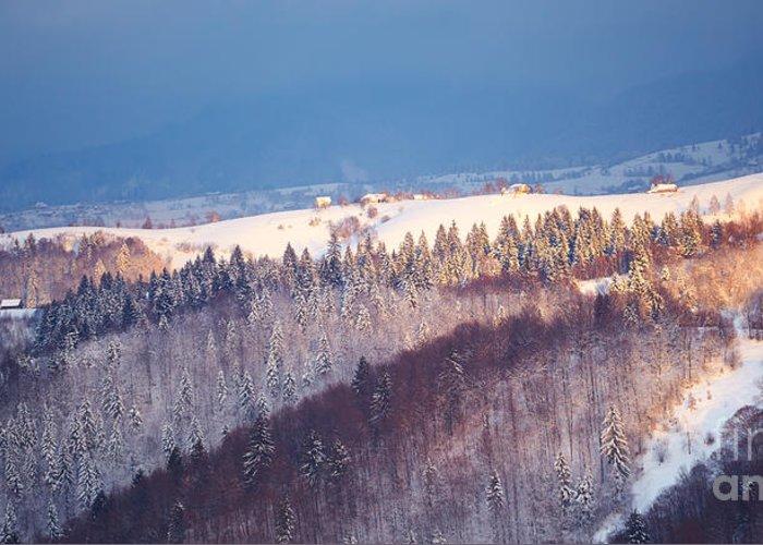 Piatra Craiului Greeting Card featuring the photograph Mountain Landscape In Brasov County by Gabriela Insuratelu