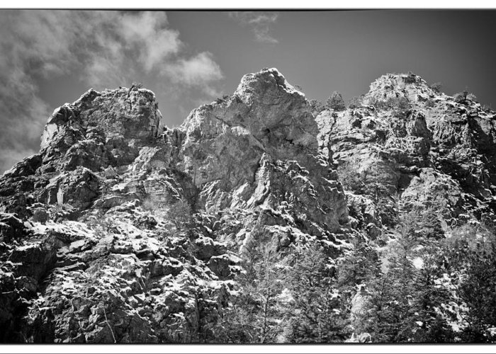 Mountain Greeting Card featuring the photograph Mountain Peaks by Lisa Spencer
