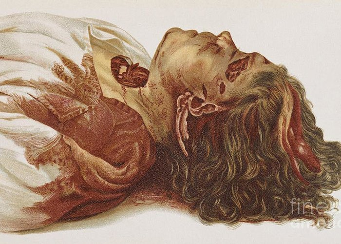 Science Greeting Card featuring the photograph Murder Victim 1898 by Science Source