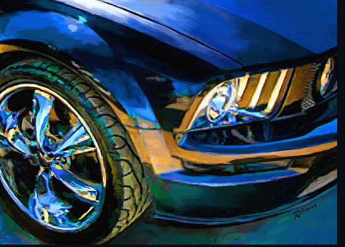 Mustang Greeting Card featuring the painting Mustang by Robert Smith