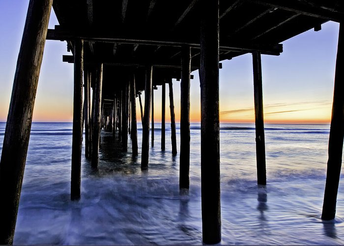 Nags Head Greeting Card featuring the photograph Nags Head Pier - A Different View by Rob Travis