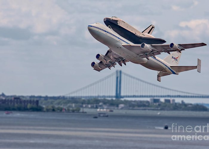 Space Shutle Enterprise Greeting Card featuring the photograph Nasa Enterprise Space Shuttle by Susan Candelario