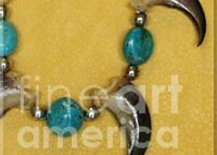 Greeting Card featuring the photograph Native Necklace by Barb Keating Artist