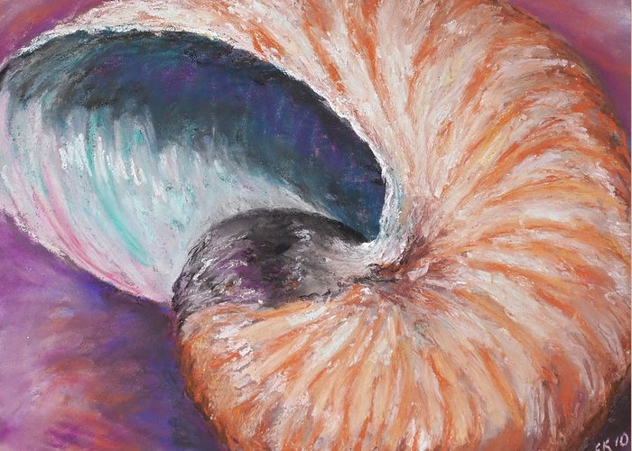 Nautilus Greeting Card featuring the painting Nautilus by Erica Keener