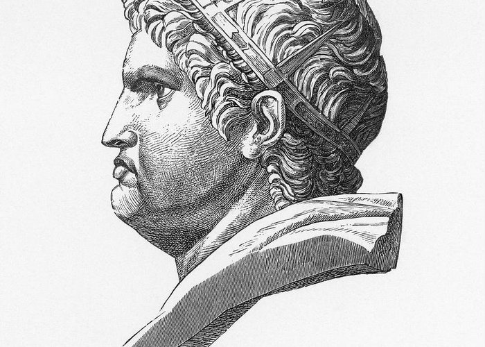 1st Century Greeting Card featuring the photograph Nero (37-68 A.d.) by Granger