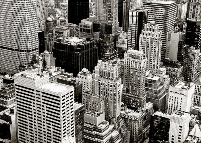 New York City Greeting Card featuring the photograph New York City From Above by Vivienne Gucwa