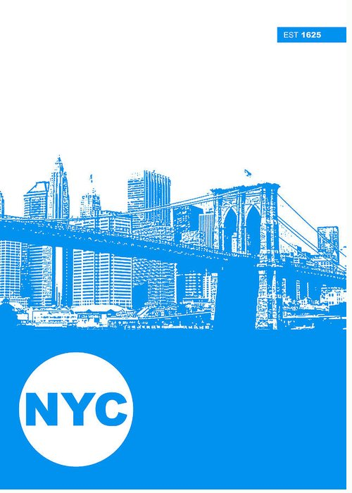 Greeting Card featuring the photograph New York Poster by Naxart Studio