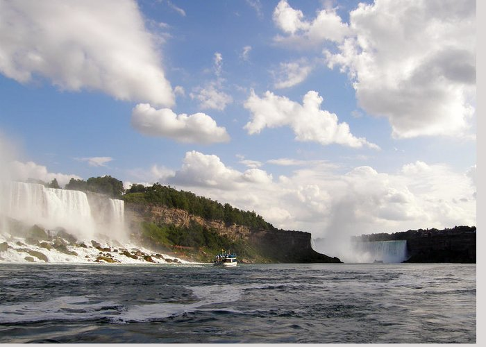 Niagara Falls Greeting Card featuring the photograph Niagara Falls View From The Maid Of The Mist by Mark J Seefeldt