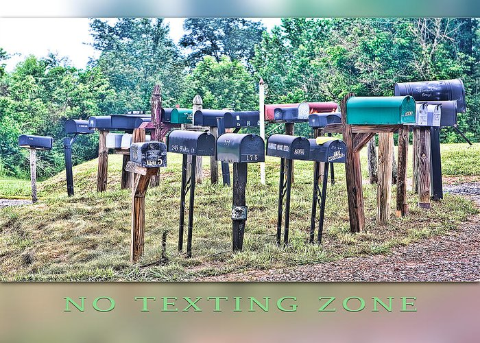 Texting Greeting Card featuring the photograph No Texting Zone by Stephen Warren