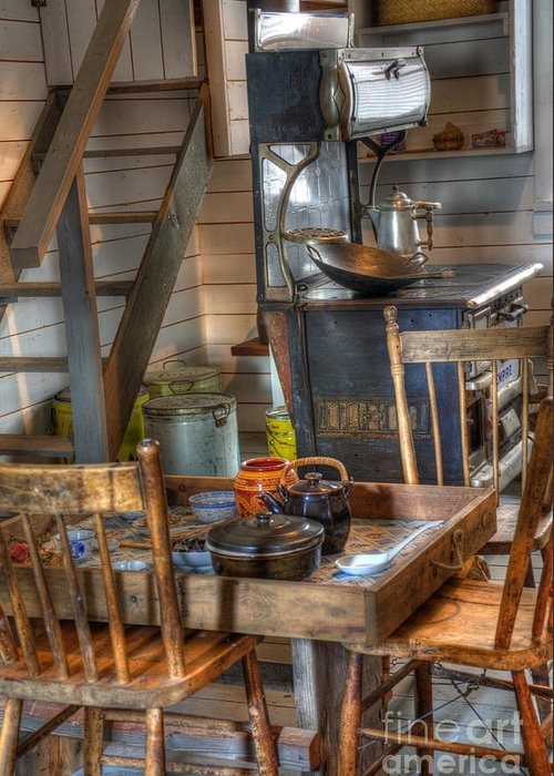 Nostalgia Greeting Card featuring the photograph Nostalgia Country Kitchen by Bob Christopher