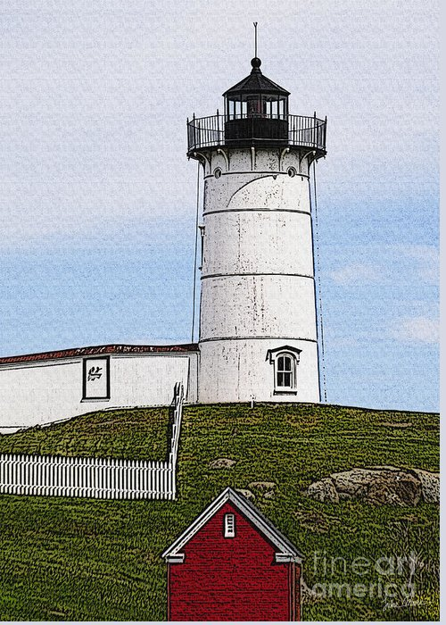 Cape Greeting Card featuring the photograph Nubble Lighthouse- Canvas by Luke Moore