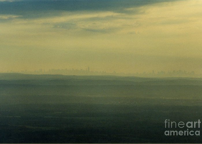 Nyc Greeting Card featuring the photograph Nyc Skyline by Thomas Luca