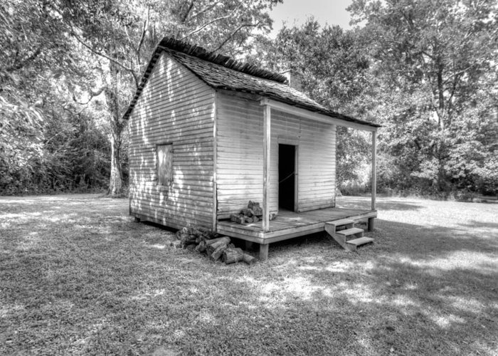 Oakley Plantation Greeting Card featuring the photograph Oakley Plantation Slaves Quarters by Bourbon Street