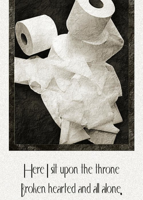 Toilet Paper Greeting Card featuring the photograph Ode To The Spare Roll by Andee Design