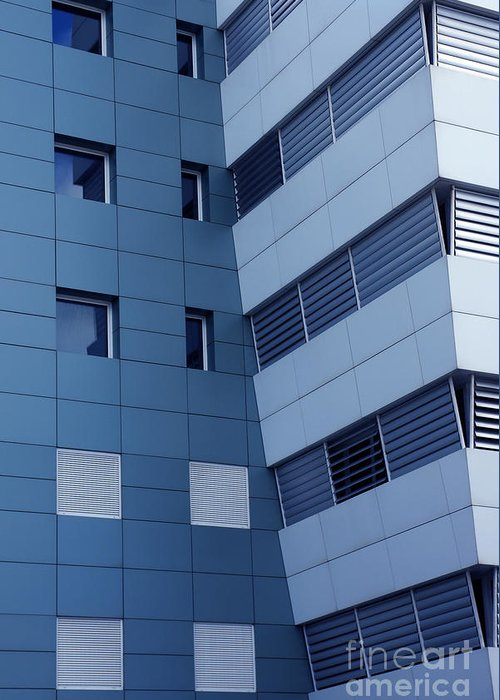 Abstract Greeting Card featuring the photograph Office Building by Carlos Caetano