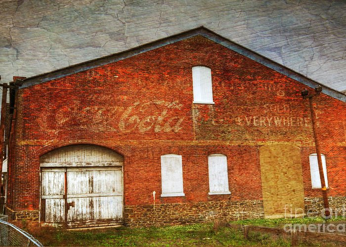 Old Greeting Card featuring the photograph Old Coca Cola Building by Paul Ward