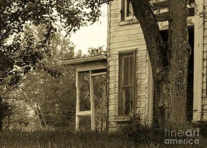 Abandoned Greeting Card featuring the photograph Old Country Porch by Joyce Kimble Smith