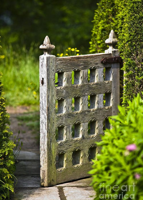 Architektur Greeting Card featuring the photograph Old Garden Entrance by Heiko Koehrer-Wagner