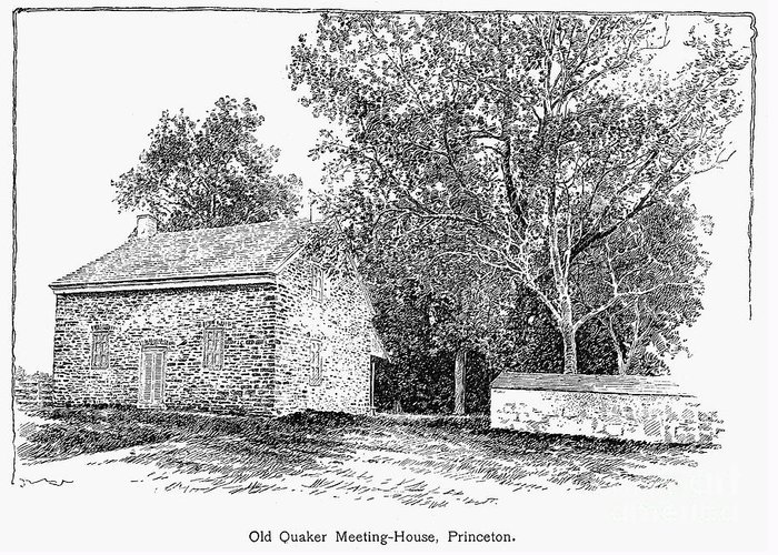 1893 Greeting Card featuring the photograph Old Quaker Meeting House by Granger