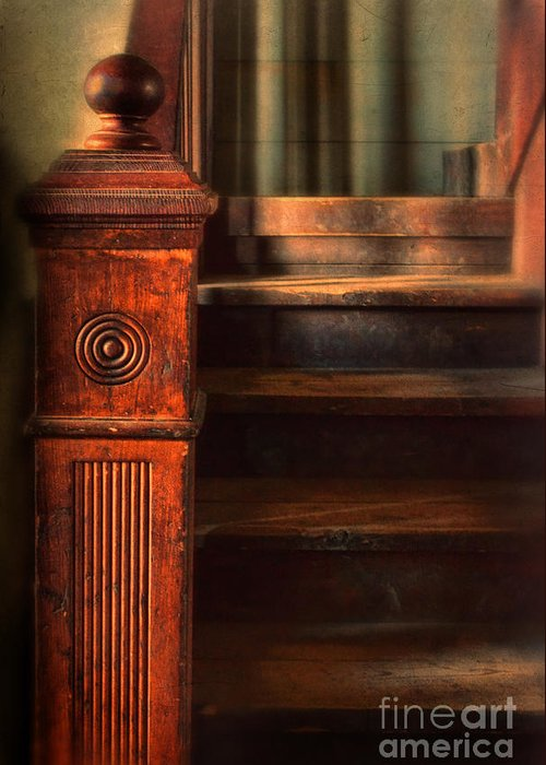 Stairs Greeting Card featuring the photograph Old Staircase by Jill Battaglia