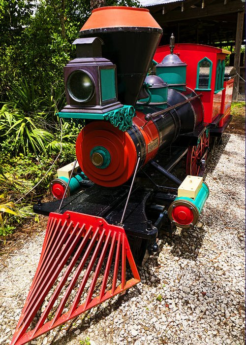 Train Greeting Card featuring the photograph Old Time Train by Garry Gay