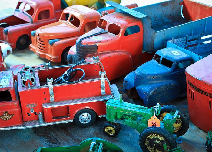 Ford Truck Greeting Card featuring the photograph Old Tin Toys by Steve McKinzie