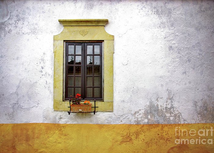 Address Greeting Card featuring the photograph Old Window by Carlos Caetano